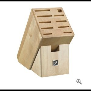 Crate&Barrel Wooden knife block excellent conditio